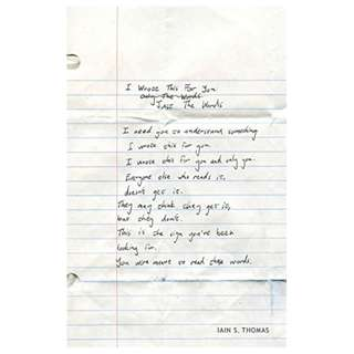 I Wrote This For You: Just the Words BY Iain Thomas (Author),‎ Jon Ellis (Author, Photographer)