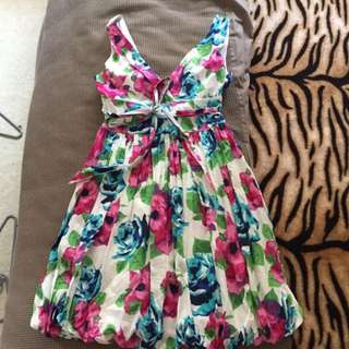 Colourful Tulip Dress Size 8