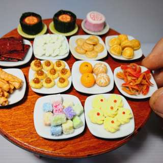 Dollhouse miniature CNY Chinese Year New food diaplay