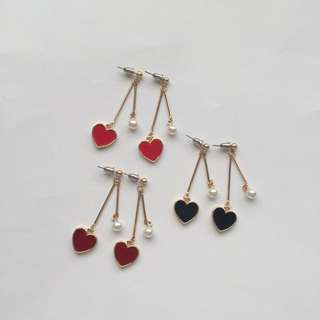 HEART AND PEARL EARRINGS