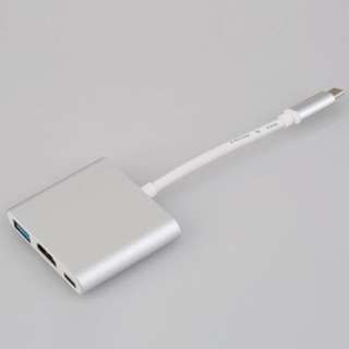 3 in 1 USB C adapter for Apple Macbook Pro HDMI USB 3.0 Thunderbolt 3