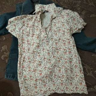 Kemeja bunga/flowery blouse