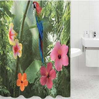 Shower curtain with 12 Hooks. 180 x180cm