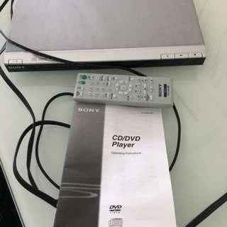 Sony DVD player used one - DVP-SR200P