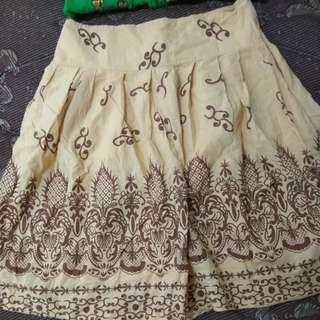 Middle skirt/katun skirt boho look/rok
