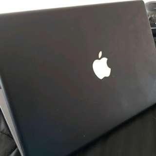 Black Apple MacBook