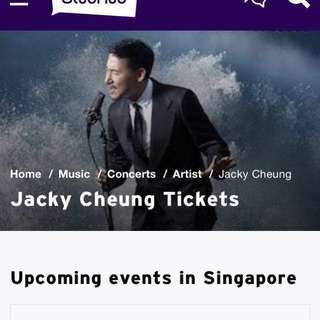 Jacky Cheung A Classic Tour 2018