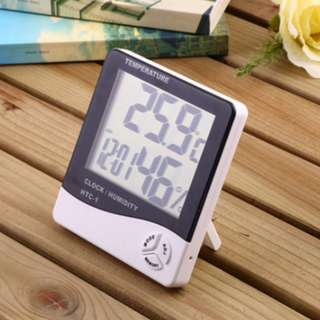 3 in 1 Alarm Clock Thermometer Hygrometer