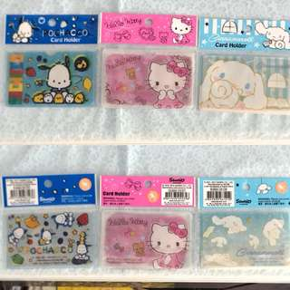 Last PCS Each Hello Kitty Cinnamoroll Pochacco Ez Link Card Holder