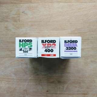 Ilford 120 Medium Format Film (HP5, XP2, Delta 3200)