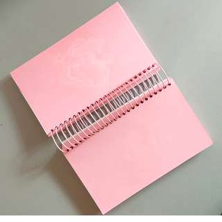 No Lines Pink Pages Spring Notebook from Miniso