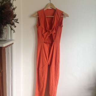 Handmade Orange Jumpsuit