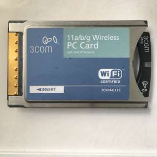 11a/b/g wireless PC Card