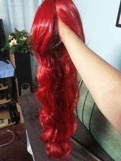 Selling red wig 80 cm