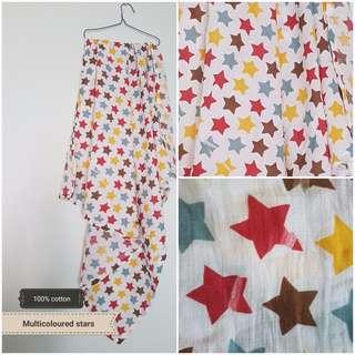Muslin baby swaddle blanket/ bedung selimut