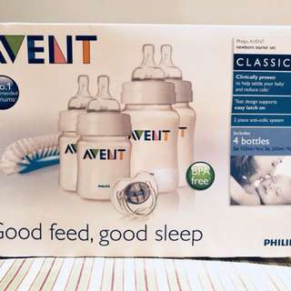 Free postage Avent classic bottle starter set