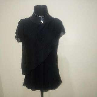 Sheer Black Blouse - Medium