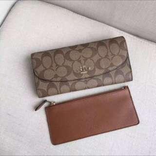 Authentic Coach women wallet purse pouch coin bag