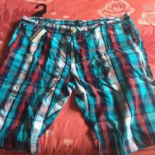 男格子短褲(大尺碼)