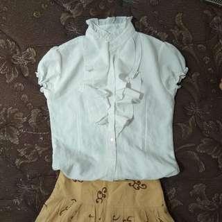 White formal blouse/baju putih