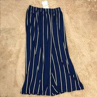 🚚 韓版柔軟條紋寬褲
