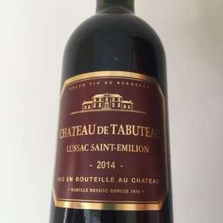 Red wine 紅酒 Chateau De Tabuteau Lussac Saint-Emilon 2014 法國