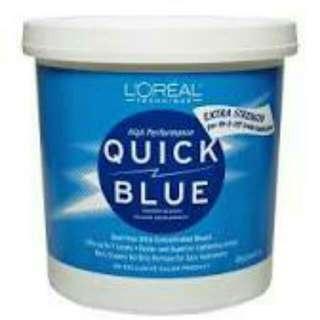 L'Oreal Quick Blue Hair Bleach Powder(repack)- AUTHENTIC