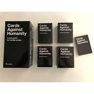 Cards Against Humanity + all four expansion sets