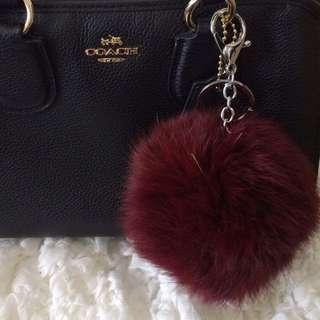 Furr Ball Keychain Maroon