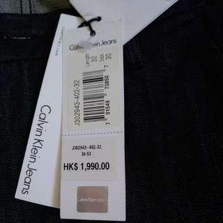 出售全新 ! Calvin klein jeans (32腰!)