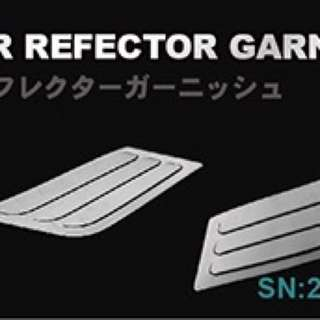 Toyota C-HR chrome finish stainless steel rear reflector garnish for sales