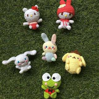 Hello Kitty and Friends lookalike crochet dolls