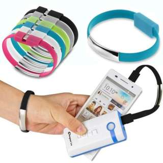 Micro USB Charging and Data Sync Android Cable Bracelet