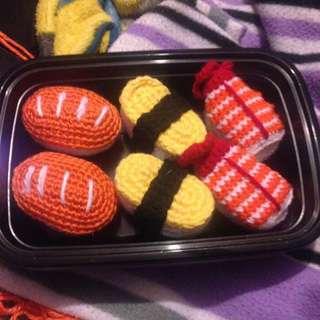 Crochet amigurumi sushi
