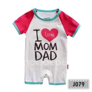 Holabebe - Baby Clothes / Baby Jumper - I Love Mom & Dad (White)