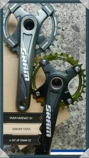 Sram compact XC alloy crank for mountain bike parts mtb shimano