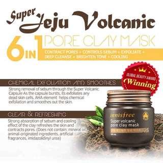 INNISFREE Jeju Volcanic Pore Clay Mask - 100ml