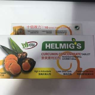 Helmig's curcumin concentrate tablet