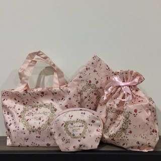 【全新】LADURÉE 夢幻時尚提包組+LADURÉE 法式優雅包袋組 全部共4件套組#含運費