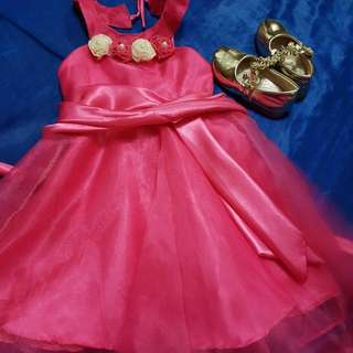 Pre Loved Gown And Shoe For Baby