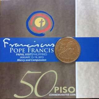 Authentic Pope Francis Papal Visit P50 Commemorative Coin
