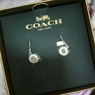 Coach silver earrings