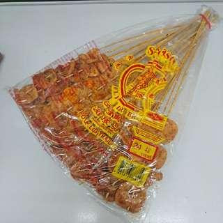 懷舊零食:沙爹魚串
