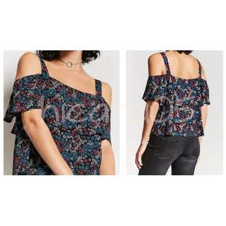 Forever 21 Floral Open-Shoulder Top