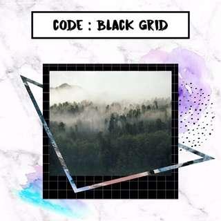 Polaroid Photo Printing - Black Grid