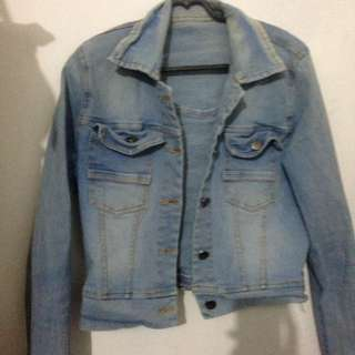 Crop Jaket Jeans