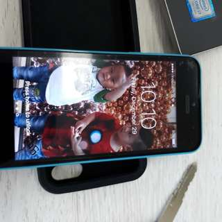 Jual iphone 5c 16gb blue mulus