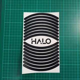 "10"" Rims Stickers - Matt Black [Product Code: 10INMBLK]"