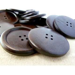WB11150 - 45mm BIG wooden buttons (10 pieces)  #craft