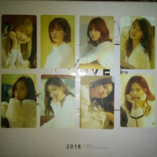 [WTS] TWICE FIRST LOVE 2018 SEASON GREETINGS OFFICIAL PHOTOCARD